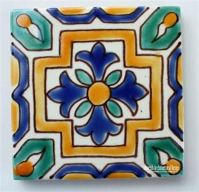 Tile Mediterranean Tiles Ceramic Pool 4x4 Spanish