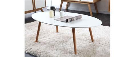 table basse design bois naturel et blanche gilda miliboo
