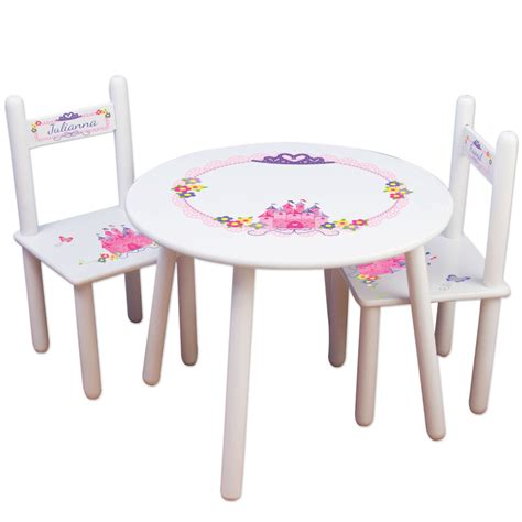 chaise personnalisée princess table chair set frozen furniture