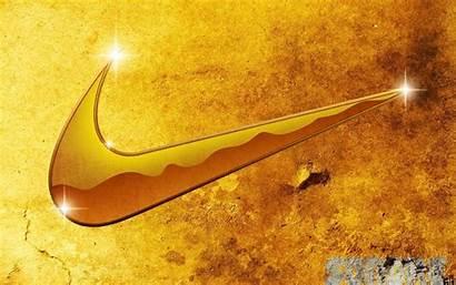 Nike Wallpapers Gold Logos Golden Symbol Sign