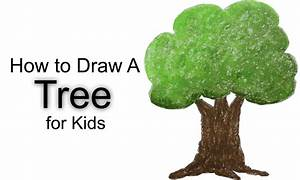 How to Draw a Tree for Kids - YouTube