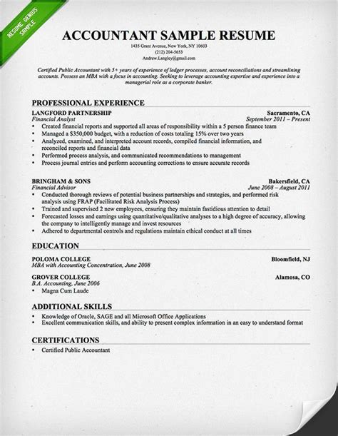 Accounting Resume Template by 31 Best Best Accounting Resume Templates Sles Images