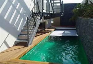 liner blanc piscine piscine avec un escalier With lovely terrasse bois avec piscine 5 kit piscine pau tarbes pyrenees atlantiques hammam sauna