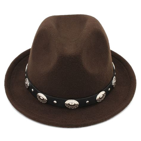 Fashion Women Men Wool Blend Fedora Cap Trilby Hats Jazz