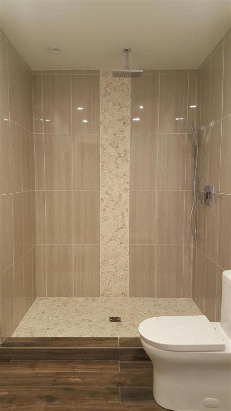 sliced white pebble tile bathroom pinterest white