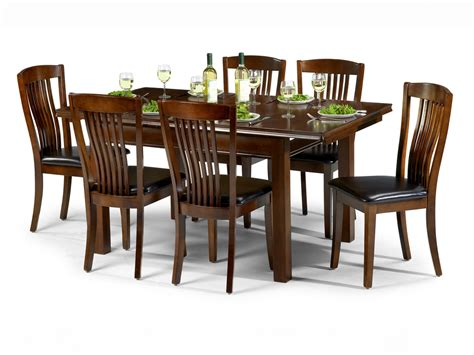 dining table and 6 chairs julian bowen canterbury 120cm mahogany dining table and 6