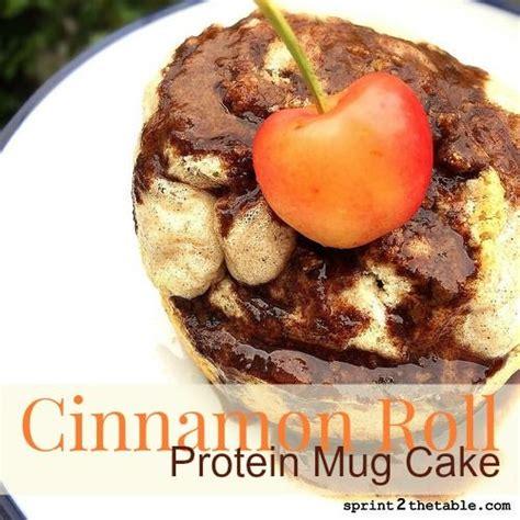 cinnamon roll protein mug cake recipe microwave mug