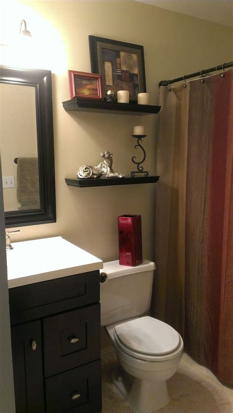 Bathrooms Color Ideas by Small Bathroom With Earth Tone Color Scheme