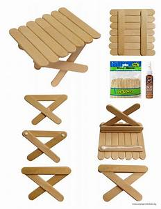 Mini Craft Stick Picnic Table - Art Projects for Kids