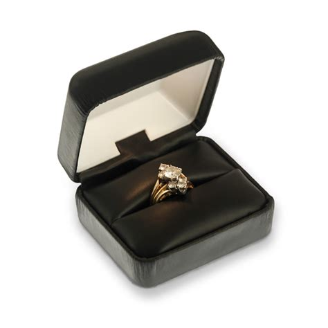 lighted black leatherette ring box wholesale engagement ring boxes where to get jewelry