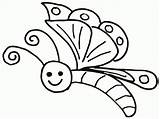 Coloring Butterfly Pages Toddlers Printable Popular sketch template