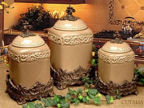 tuscan kitchen canisters sets design set of 3 large canisters taupe home