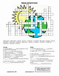 ESL, English vocabulary, printable worksheets, space, the ...