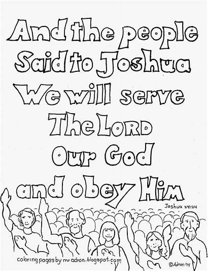 Coloring Pages Joshua Lord Serve Bible Obey