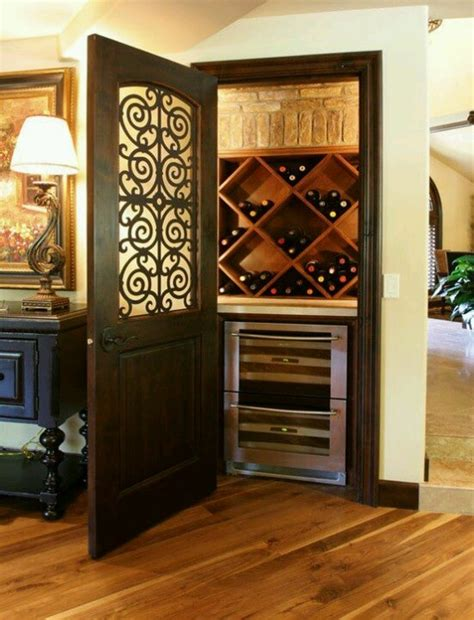 turn a closet into a wine celler at home bar