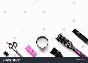 Tools Hair Styling On White Background Stock Photo ...