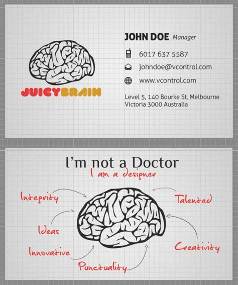 cerebro cartoes de visita cabeca  cerebro