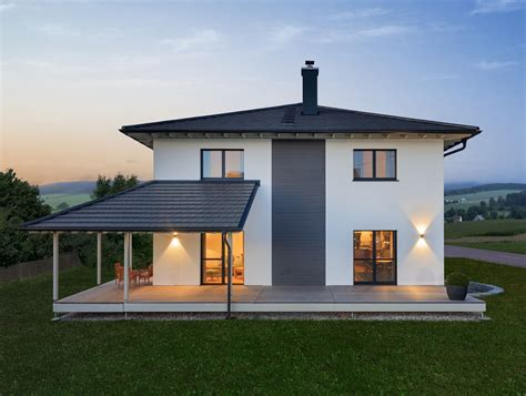 Ueberdachte Terrasse Moderne Terrasseneinrichtung by Stadtvilla Modern Mit Holz Terrasse Haus Bongart