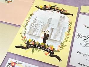 sweet hong kong wedding invitation on behance With wedding invitation printing hong kong