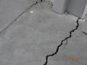reparer fissure dalle beton terrasse fissures poutrelles With reparer fissure dalle beton terrasse