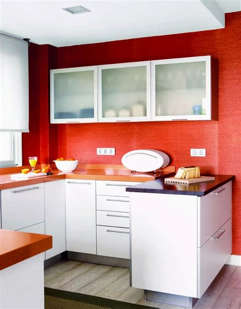 Farrow And Ball Kitchen Ideas - red walls in the kitchen interiors by color