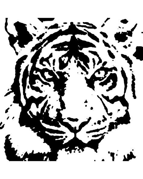 tiger stencil art tiger stencil stencils drawings