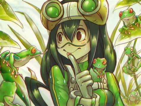 desktop wallpaper frogs anime girl  hero academia