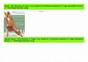 Epub  Key Muscles Of Yoga  Your Guide To Functional