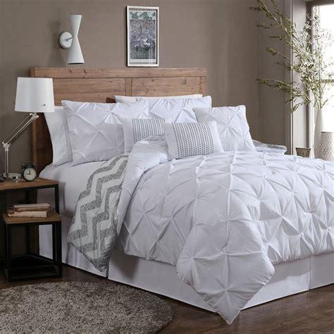 white comforter set reversible 7 comforter set king size bed bedding