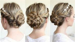 Braided Updo with a Flower Crown - YouTube