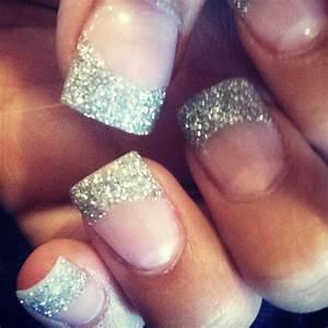 Silver Wedding - Silver Glitter Tips #2034137 - Weddbook