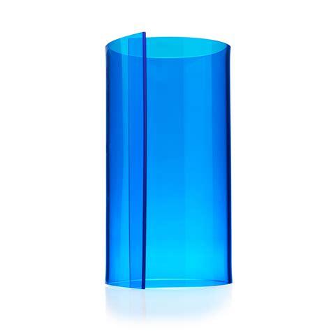 transparent blue acrylic kitchen roll holder