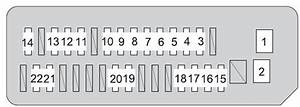 Toyota Prius  Xw20  2008 - 2009  - Fuse Box Diagram