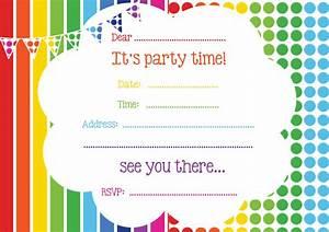 Free printable birthday invitations online bagvania free for Kid free wedding invitations