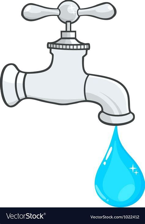 Water Faucet Clipart Happy Water Droplet Emerging From A