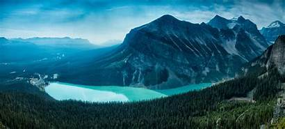 Canada Lake Wallpapers Forest Louise Canadian Mountains