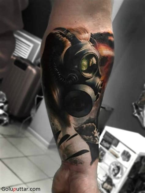 Skull Tattoo Gas Mask Meaning