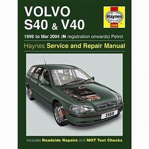 Vehicle Manual For Volvo S40 And V40 Petrol 96