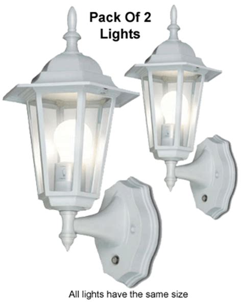 pack of 2 outdoor wall lanterns with auto sensors for dusk