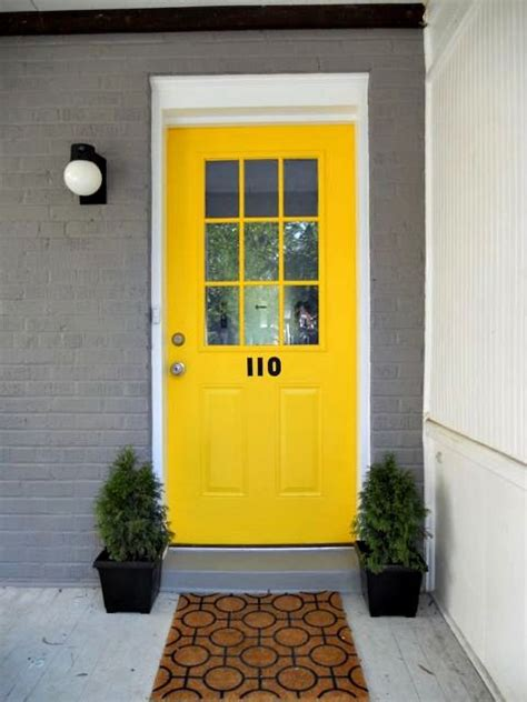 the 25 best yellow front doors ideas on pinterest