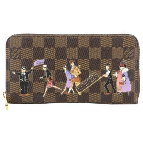 louis vuitton zippy wallet limited edition damier  sale  stdibs