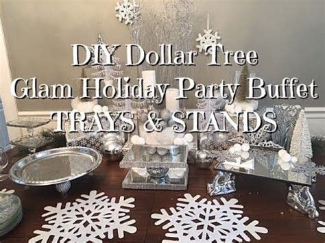 diy dollar tree glam  years buffet trays stands