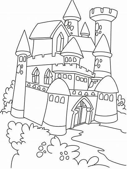 Castle Coloring Disneyland Printable Getcolorings Colorings Castl