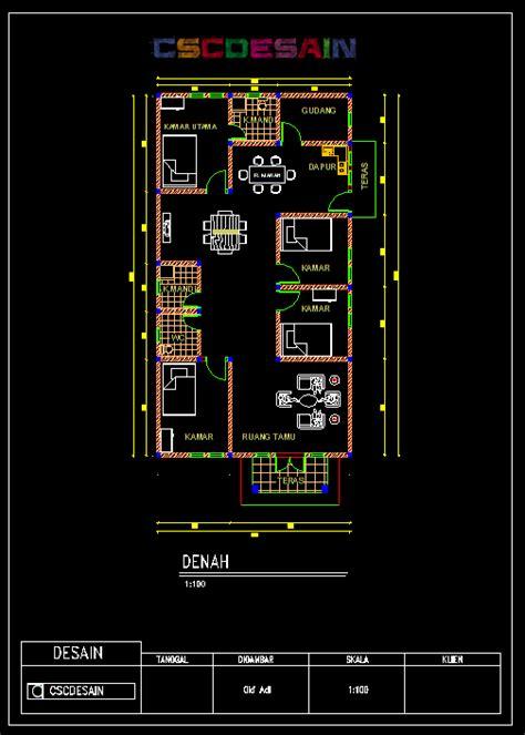 desain rumah menggunakan autocad