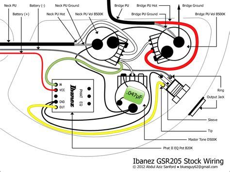 ibanez gsr bass  wiring schemes telecaster guitar forum
