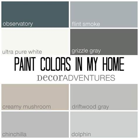 paint colors in my home free printable creamy