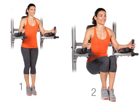 Abs Chair Knee Raises by Cardio Wedding Workout 2