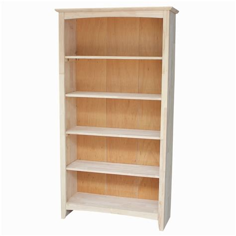 Unfinished Bookcases Free Shipping by Unfinished Shaker Bookcase 32 Quot W X 60 Quot T Free Shipping