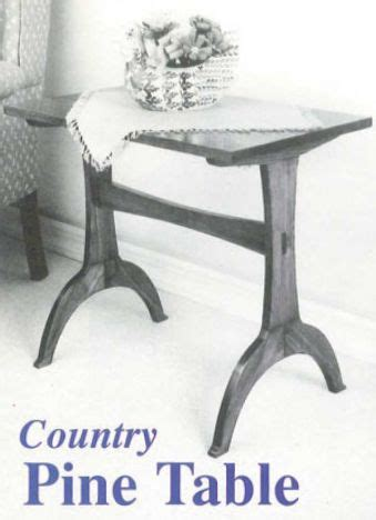 woodworkers journal country pine table plan rockler