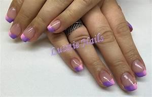 Ongles En Gel Rose : gel ongles en french d grad e bicolore rose et violet ~ Melissatoandfro.com Idées de Décoration
